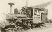 Historical Photo of H&H Railroad Engine