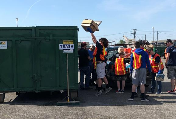 Troop 86 Helping with Disposal