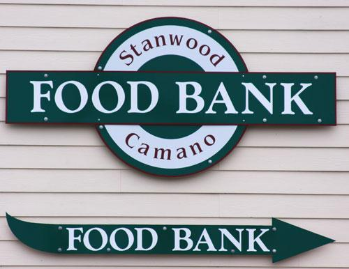 Stanwood Camano Food Bank Sign